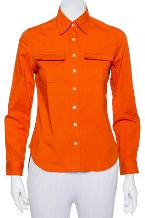 Burberry Cotton Pocket Detail Button Front Shirt S