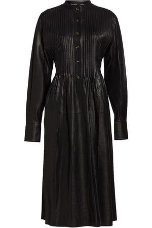Proenza Schouler Women's Pintuck Leather Shirtdress - - Size 4