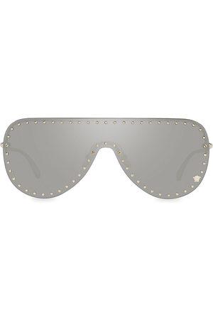 VERSACE Men's 45MM Irregular Pilot Sunglasses - Havana