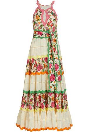 Farm Rio Women's Toucan's Garden Sleeveless Maxi Dress - Off Multi - Size Medium
