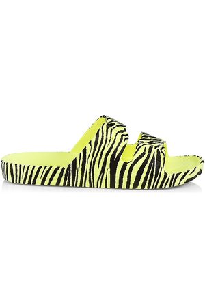 Freedom Moses Women's Zebra Two-Band Slide Sandals - Size 8