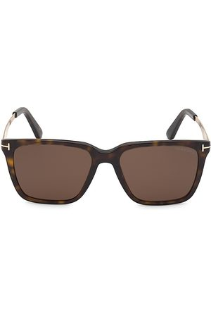 Tom Ford Men's Garrett 56MM Square Sunglasses - Havana