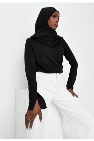 Missguided Women Tunics - Crepe Drape Split Sleeve Tunic Top