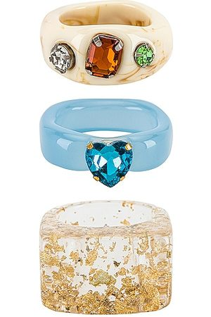8 Other Reasons Women Rings - Acrylic Ring Set in Multi.