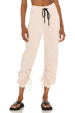 THE RANGE Women Sweatpants - Cinched Sweatpants in Nude.