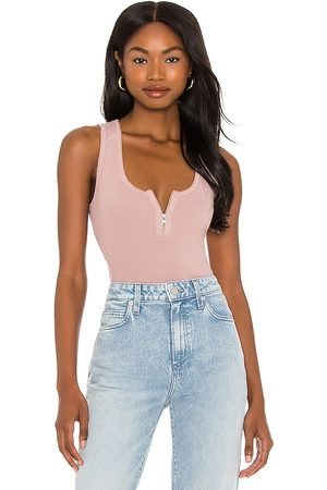 AllSaints Women Bodies - Alicia Bodysuit in Mauve.