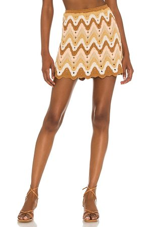 Free People Heat Of The Moment Skirt in Brown.
