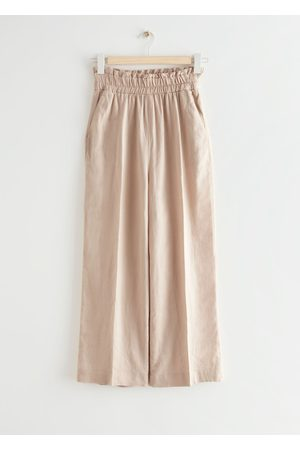 & OTHER STORIES Relaxed High Waist Linen Trousers