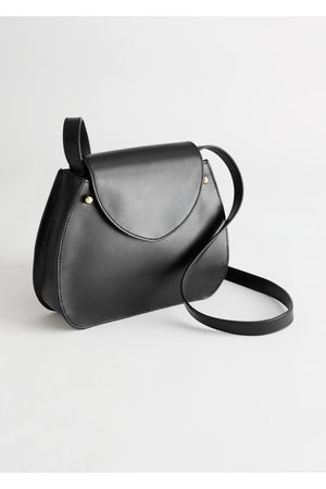 & OTHER STORIES Curved Leather Crossbody Bag