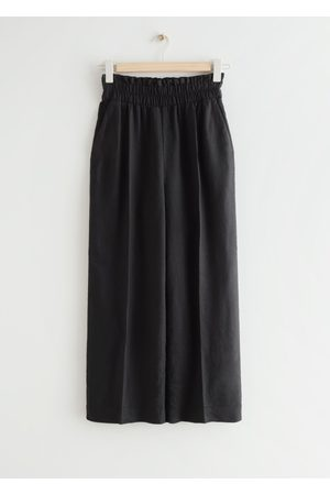 & OTHER STORIES Women High Waisted - Relaxed High Waist Linen Trousers