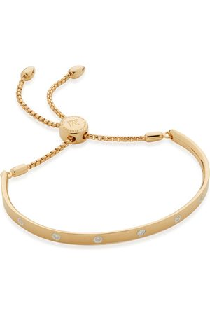 Monica Vinader Women Bracelets - Gold Fiji Gem Diamond Chain Bracelet Diamond