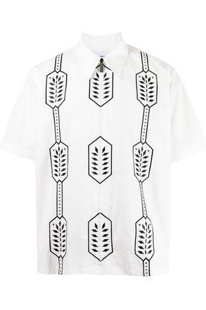 Ports V Shirts - Geometric-print cotton shirt