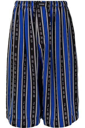 Balenciaga Men Pajamas - Vertical-stripe pyjama shorts