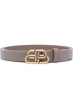 Balenciaga BB thin leather belt