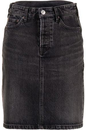 Balenciaga Women Denim Skirts - High-waist denim skirt
