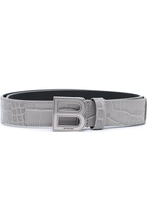 Balenciaga Women Belts - Hourglass thin leather belt - Grey