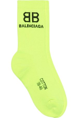 Balenciaga Men Socks - Logo-embroidered socks