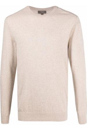 N.PEAL Round neck cashmere jumper - Neutrals