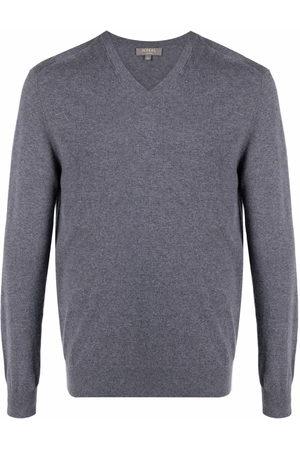 N.PEAL Men Sweatshirts - V-neck cashmere jumper - Grey