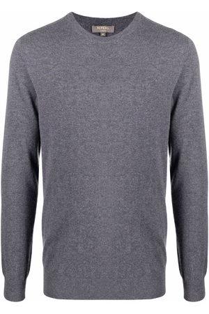 N.PEAL Men Sweatshirts - Round neck cashmere jumper - Grey