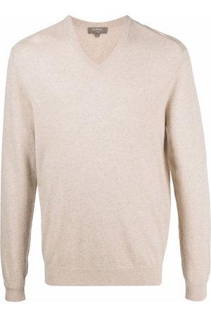 N.PEAL V-neck cashmere jumper - Neutrals