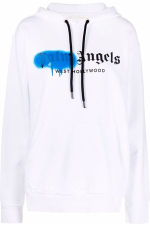 Palm Angels Miami sprayed logo hoodie