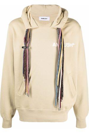 AMBUSH Drawstring cotton hoodie - Neutrals