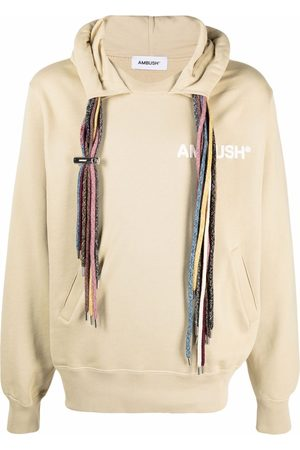 AMBUSH Multi-drawstring logo sweatshirt - Neutrals