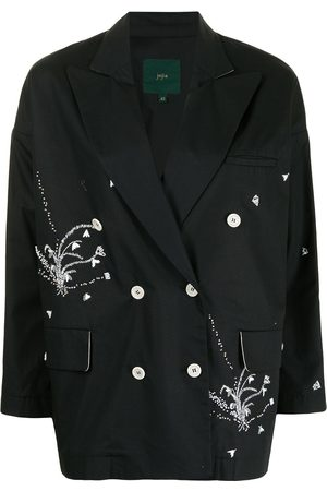 JEJIA Women Blazers - Embroidered double-breasted blazer