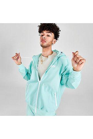 Nike Men's Sportswear Windrunner Woven Hooded Jacket in Blue/Light Dew Size Small 100% Polyester/Fiber