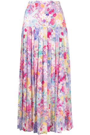 RIXO London Women Printed Skirts - Spring Meadow print pleated skirt