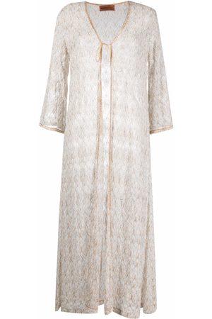 Missoni Women Maxi Dresses - Metallic-threaded maxi dress