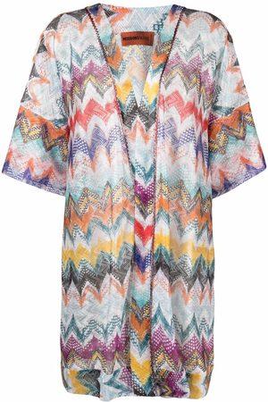 Missoni Women Tunics - Zigzag-knit V-neck tunic
