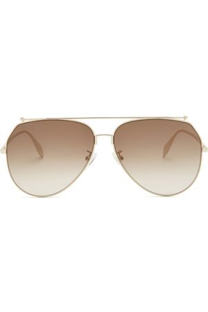 Alexander McQueen Women Round - Aviator Round Metal Sunglasses - Womens - Multi