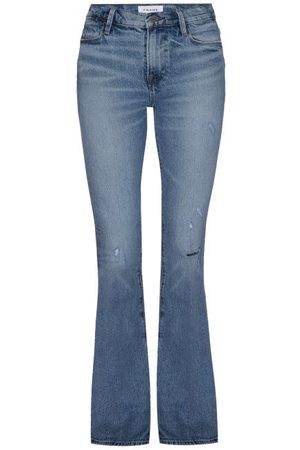 Frame Women High Waisted - Le High Flared-leg Jeans - Womens - Light Denim