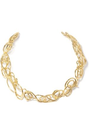 COMPLETEDWORKS Women Necklaces - Twisted 14kt -plated Sterling-silver Choker - Womens