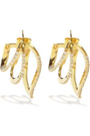 COMPLETEDWORKS Topaz & 14kt -vermeil Triple-hoop Earrings - Womens
