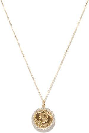 Mateo Pisces Large Diamond & 14kt Zodiac Necklace - Womens