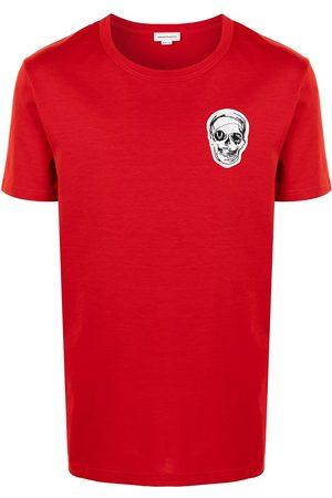 Alexander McQueen Men Short Sleeve - Embroidered-design short-sleeve T-shirt