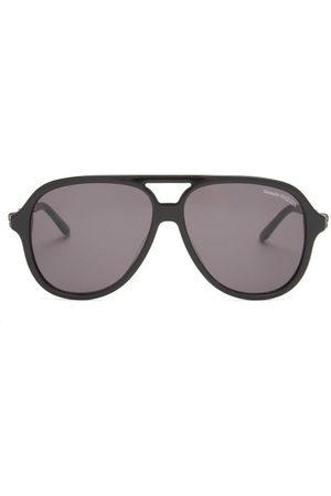 Alexander McQueen Skull Aviator Acetate And Metal Sunglasses - Mens