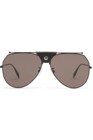 Alexander McQueen Aviator Metal Sunglasses - Mens