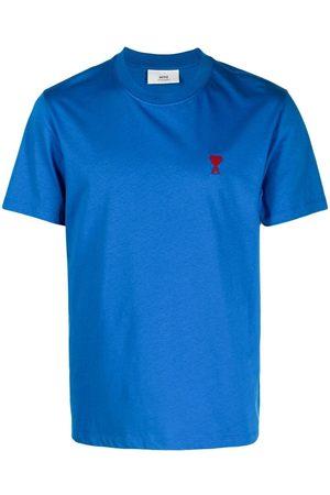 Ami Men Short Sleeve - Logo-embroidered short-sleeve T-shirt