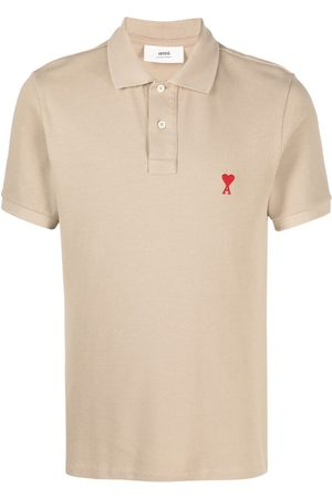 Ami Men Polo Shirts - Ami de Coeur polo shirt - Neutrals