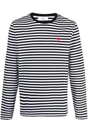 Ami Men Long Sleeve - Horizontal-stripe long-sleeve top