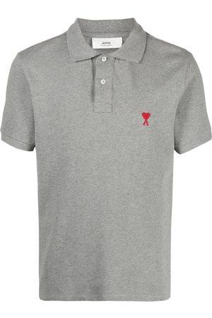 Ami Men Polo Shirts - Ami de Coeur polo shirt - Grey