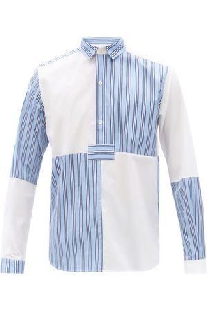 Sébline Patchworked Cotton-poplin Shirt - Mens - Multi