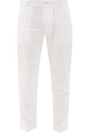 Dolce & Gabbana Cotton-poplin Slim-leg Trousers - Mens