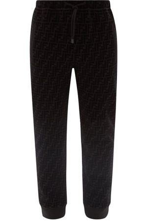 Fendi Men Sweatpants - Flocked-logo Jersey Track Pants - Mens