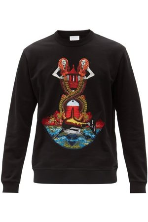 Burberry Mermaid-embroidered Cotton-jersey Sweatshirt - Mens - Multi