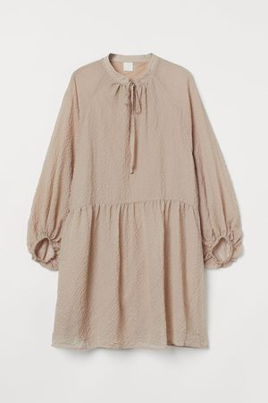 H & M Women Dresses - Balloon-sleeved Dress